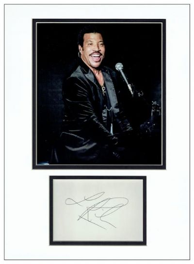 Lionel Richie Autograph Signed Display